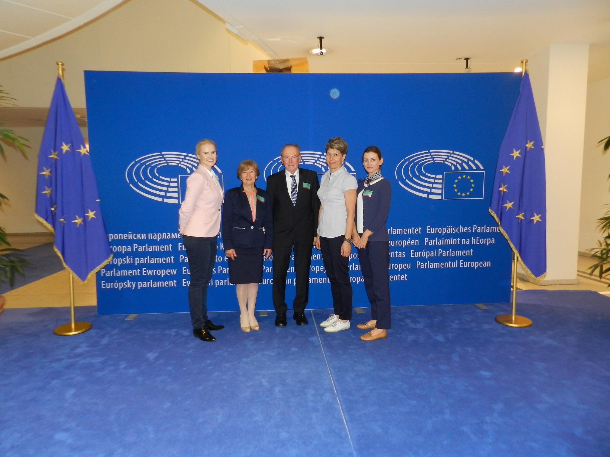W siedzie Parlamentu Europejskiego.