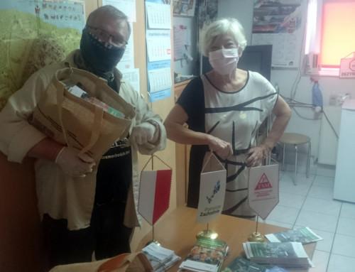 Wizyta w szkolnym schronisku młodzieżowym w Moryniu oraz w Urzędzie Miasta w dniu 24 lipca br.